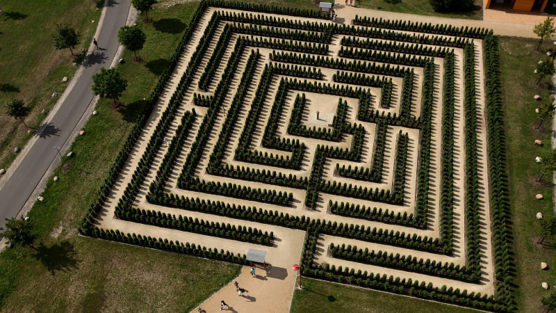 Image Of A Maze With A Center Like A Labyrinth