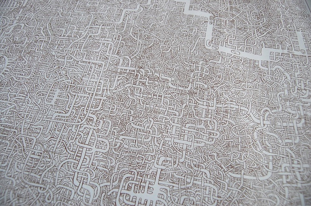 Image Of Maze Drawn By A Father For His Daughter