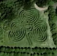 Image Of A Clover Shaped Maze