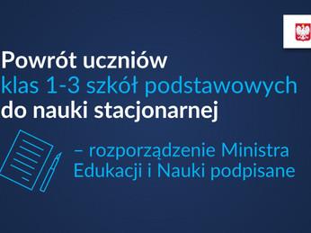 Organizacja nauki w szkołach i placówkach po feriach.