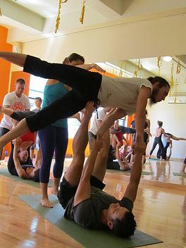 Yoga party team building acroyoga