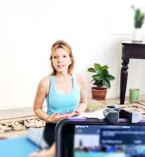 Lorrie teaching on-line