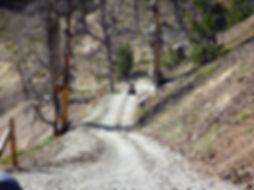 ATV trail in Bayhorse Mining District Idaho.