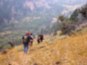 Typical hiking trail Clayton, Idaho.