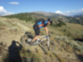 Mountain biking in central Idaho.