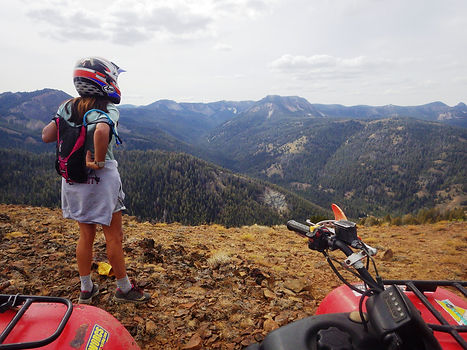 View from high elevation ATV trail in central Idaho.