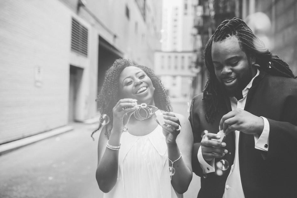 Couple : Bulles étincelantes