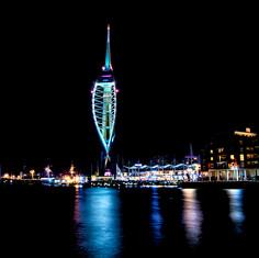 Spinnaker Tower at Night.