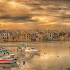 St Georges Bay, Malta.
