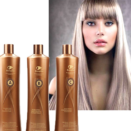 SET. Keraplus Gold Keratin Treatment 3000ML