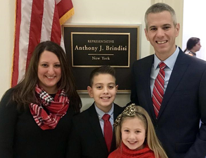 Congressman Brindisi & family after swear-in.
