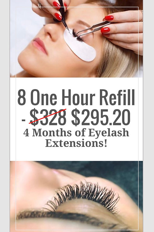 8 One Hour Refill Appointments - Total saving $96.80