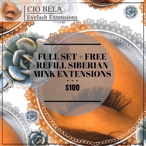 Gift Certificate: Full Set + One Refill of 100% Siberian Mink