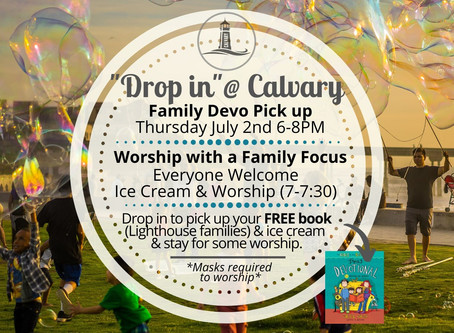 July 2, 2020 Drop-in @ Calvary