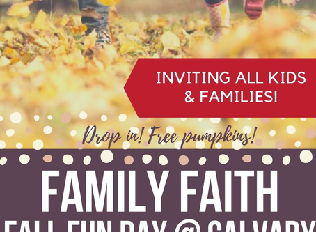 Family Faith Fall Fun Day