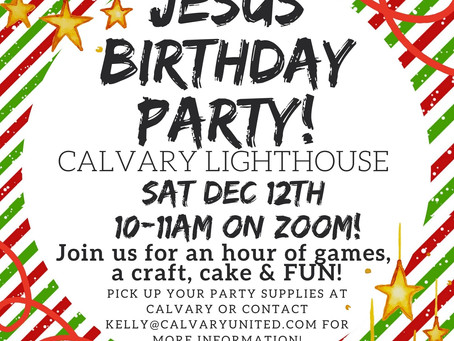 A Birthday Party for Jesus!