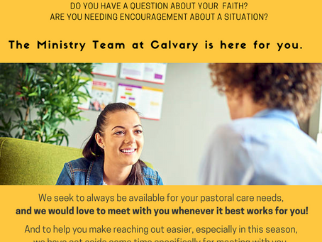 Pastoral Care Opportunities