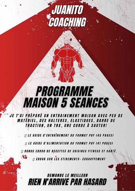 PROGRAMMES MAISON 5 SÉANCE