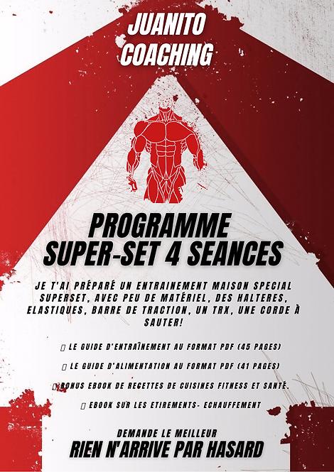 PROGRAMMES MAISON SUPERSET 4 SEANCES