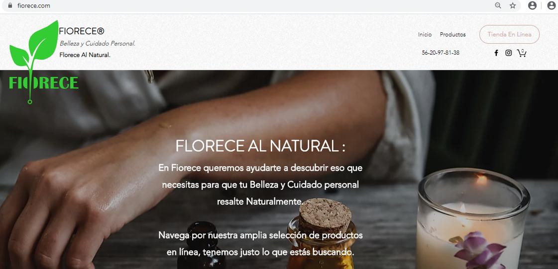 Diseño Web: Fiorece.com