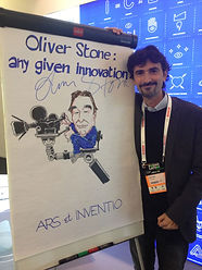 Oliver Stone has put his signature on my drawing!