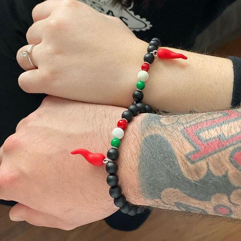 Support Italy Bead Bracelet