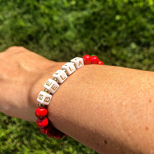 Name Stack - Red Coral
