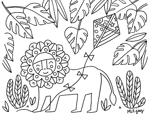 Lion Coloring Sheet