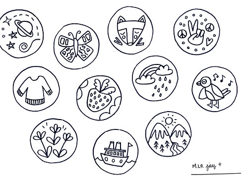 Circles Coloring Sheet