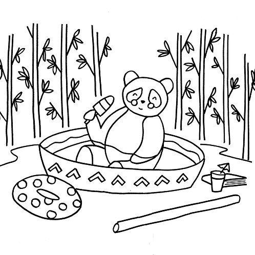 Chillin' Coloring Sheet