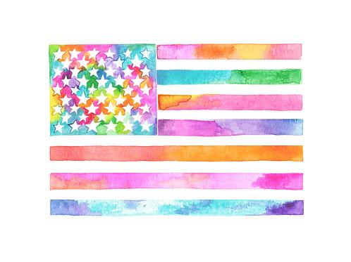 American Flag 8x10 Print