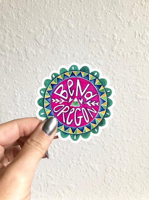 Bend Oregon Die-cut Sticker