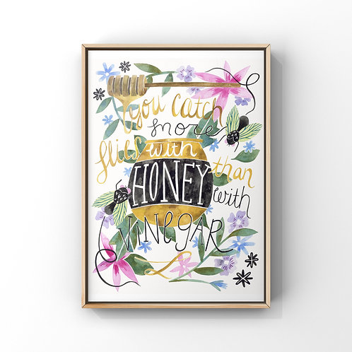 Be Sweet Honey Print 8x10
