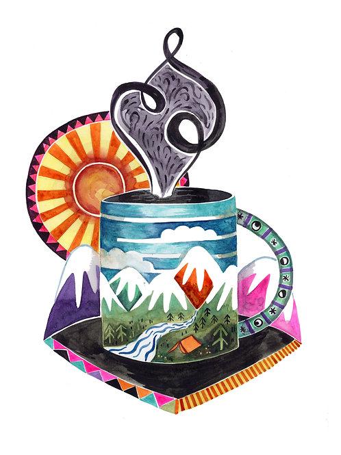 Mountain Coffee 8x10 Print