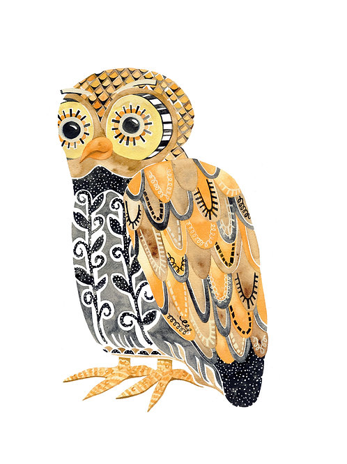 Harvest Owl 8x10 Print