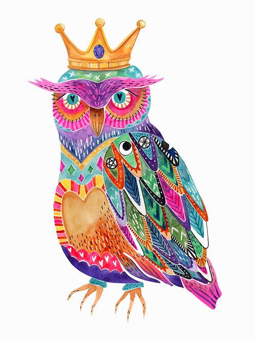 Rainbow Owl 8x10 Print
