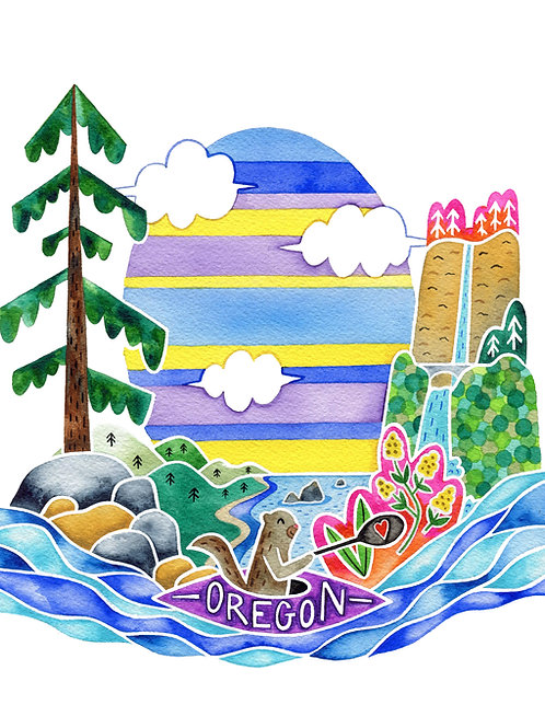 Oregon Otter 8x10 Print