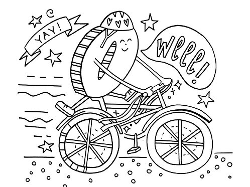 Big Kid Bike Coloring Sheet