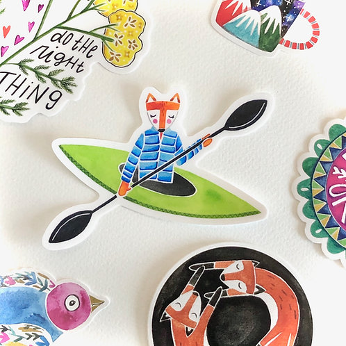 Kayak Fox Sticker