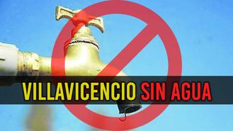 Suspensión de agua en Villavicencio este viernes 1 de septiembre