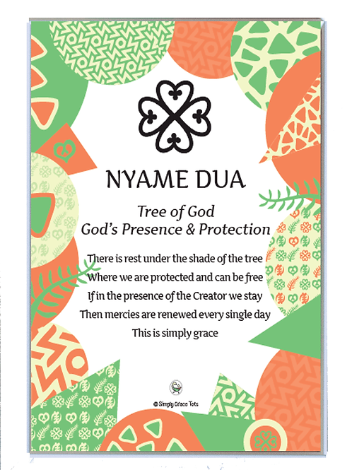 Framed poem: Nyame Dua