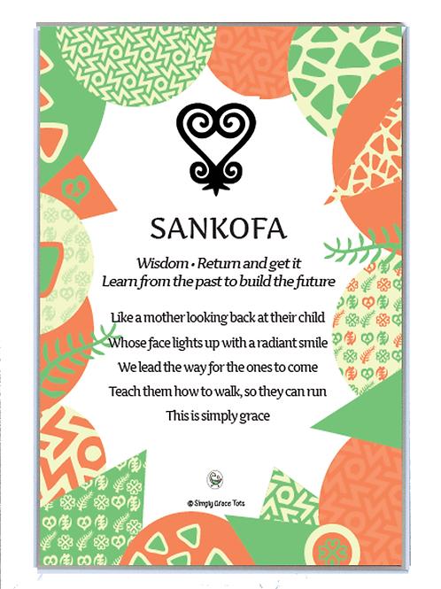 Framed poem: Sankofa