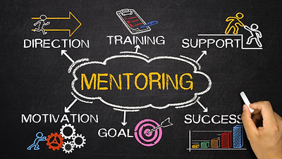 mentoring concept with business elements