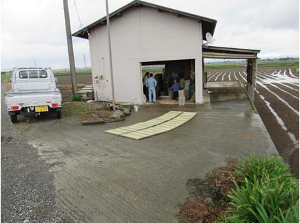 農作業小屋の写真