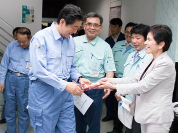 安倍首相が当社にご来訪されました。