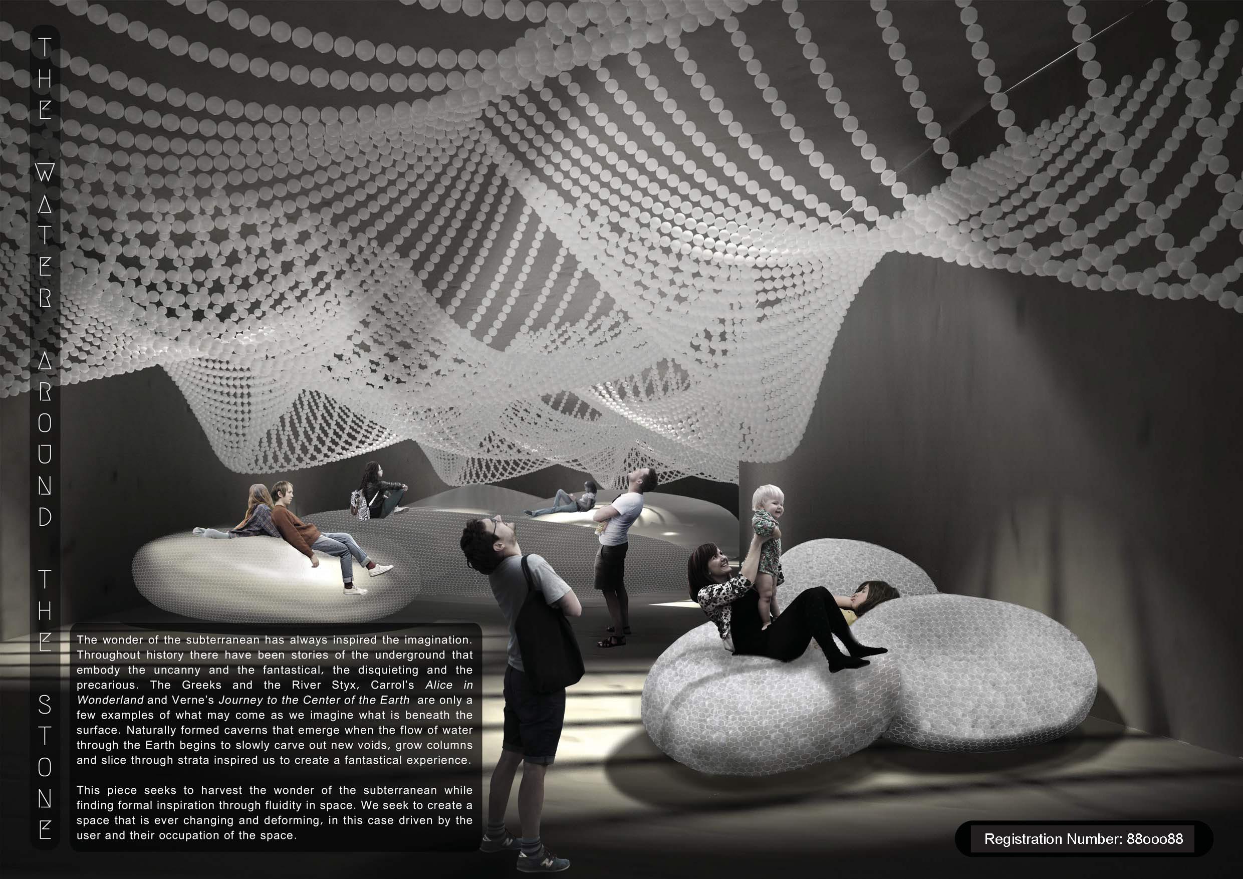 """Re-ball """"水中石"""" 互动空间设计"""