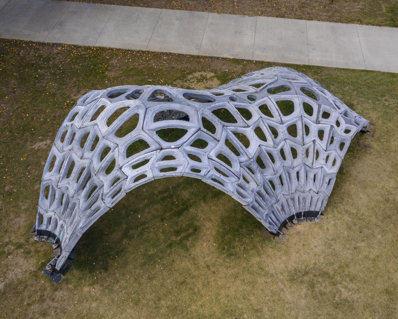 """""""DeStress"""" 3D打印水泥拱"""