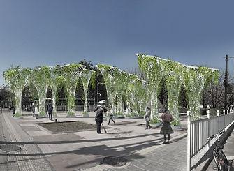 antistatics architecture Beijing smog free installation