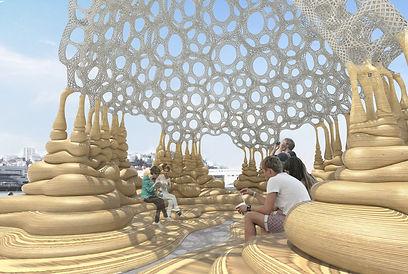 antistatics architecture woven pavilion