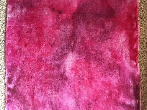 Twilly ponytail scarf in pink, burgundy, fuchsia